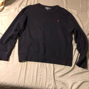 Polo navy blue crew neck sweater size large
